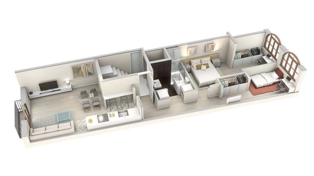 plan of the new partments for sale in gracia barcelona street tagamanent