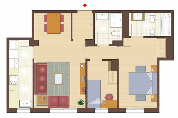 plan of 2 bedroom apartments for sale in la garriga property for sale