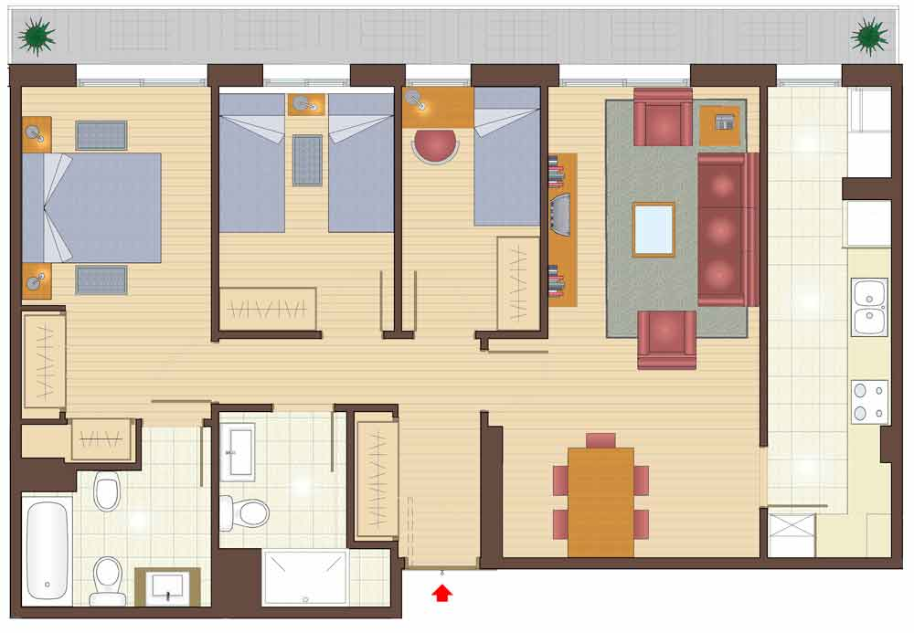 plan of 3 bedroom apartments for sale in la garriga property for sale