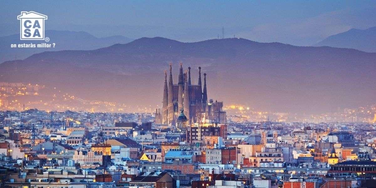 Ático en Barcelona, vistas de la ciudad con la Sagrada Familia