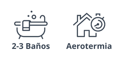 Baños y aerotermia del ático en Barcelona, de la calle Neptú