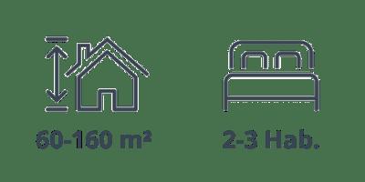 Medidas y habitaciones del ático en Barcelona, de la calle Neptú