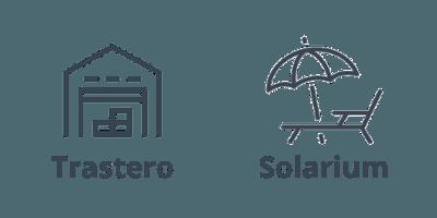 Trastero y solarium de nuestro ático en Barcelona, en la calle Roger de Flor